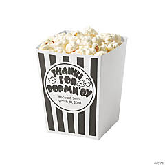 Personalized Mini Popping By Popcorn Box