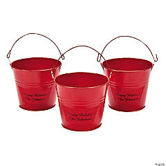 Personalized Mini Red Favor Pails
