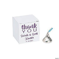 Personalized Mini Thank You Favor Boxes