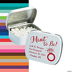 Personalized Mint To Be with Ring Mint Tins