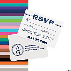 Personalized Modern Monogram Wedding Response Cards