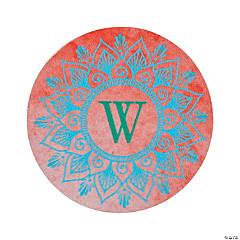 Personalized Monogram Lotus Favor Stickers