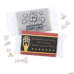 Personalized Movie Night Mini Popcorn Bags