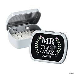 Personalized Mr. & Mrs. Chalkboard Wedding Mint Tins