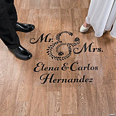 Personalized Mr. & Mrs. Wedding Floor Cling