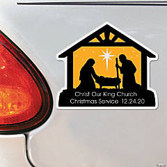 Personalized Nativity Scene Car Magnets