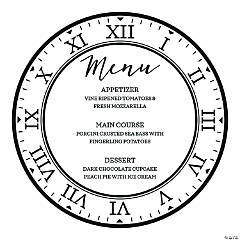 Personalized New Year's Eve Wedding Clock Menu