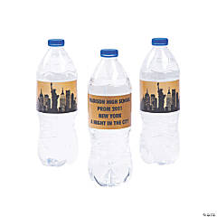 Personalized New York City Water Bottle Labels