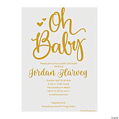 Personalized Oh Baby Invitations