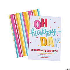 Personalized Oh Happy Day Birthday Party Invitations