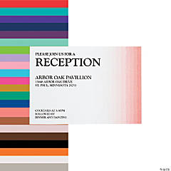 Personalized Ombre Pattern Wedding Reception Cards