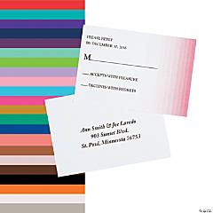 Personalized Ombre Pattern Wedding Response Cards