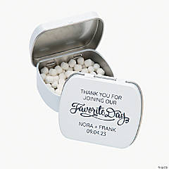 Personalized Our Favorite Day Mint Tins