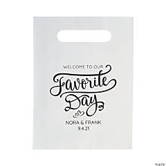 Personalized Our Favorite Day Treat Bags with Cutout Handles