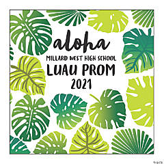 Personalized Palm Leaf Backdrop