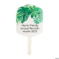 Personalized Palm Leaf Hand Fans