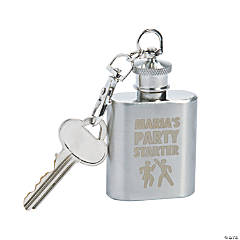 Personalized Party Starter Flask Keychain