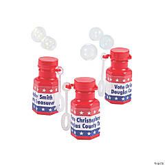 Personalized Patriotic Mini Bubble Bottles - 48 Pc.