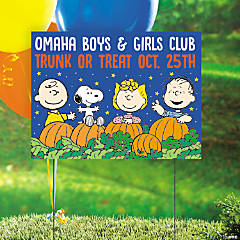 Personalized Peanuts® Halloween Trunk-or-Treat Yard Sign