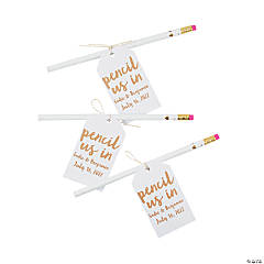 Personalized Pencils with Pencil Us In Favor Tag