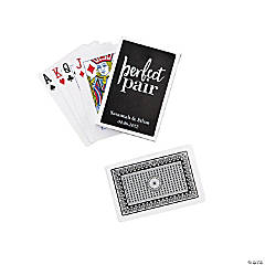 Personalized Perfect Pair Wedding Playing Cards
