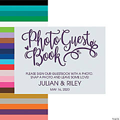 Personalized Photo Wedding Guest Book Sign