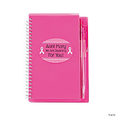 Personalized Pink Spiral Notebook & Pen Sets