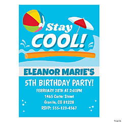 Personalized Pool Party Invitations