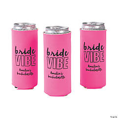 Personalized Premium Bride Vibe Slim Fit Can Coolers