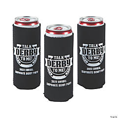 Personalized Premium Derby Party Slim Fit Can Coolers