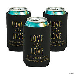 Personalized Premium Love is Love Neoprene Can Covers