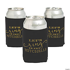 Personalized Premium New Year's Wedding Neoprene Can Coolers