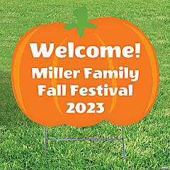Personalized Pumpkin Patch Yard Sign