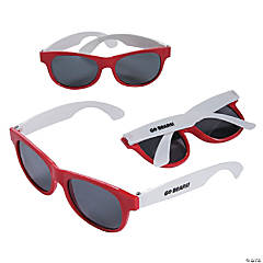Personalized Red & White Two-Tone Sunglasses