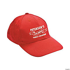 Personalized Red Family Tree Baseball Caps