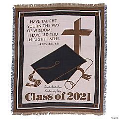 Personalized Religious 2021 Graduation Throw