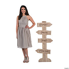 Personalized Rustic Wedding Directional Sign