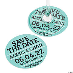 Personalized Save-the-Date Coasters