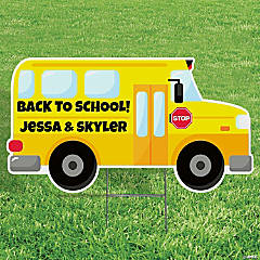 Personalized School Bus Yard Sign