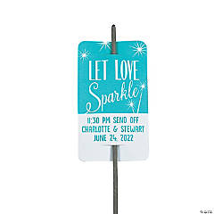 Personalized Send-Off Sparkler Tags