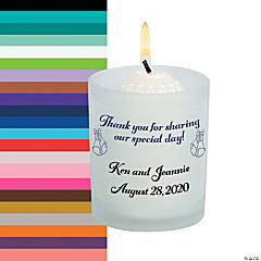 Personalized Share Our Day Wedding Votive Candle Holders
