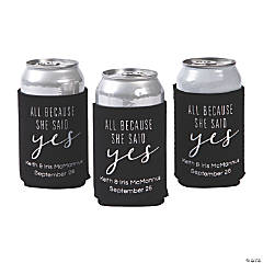 Personalized She Said Yes Can Coolers