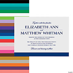 Personalized Simple Wedding Invitations