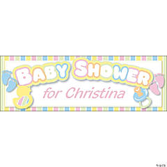 Personalized Small Baby Shower Vinyl Banner