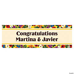 Personalized Small Cuban Wedding Shower Banner