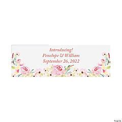 Personalized Small Garden Wedding Vinyl Banner