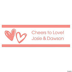 Personalized Small Hearts Vinyl Banner