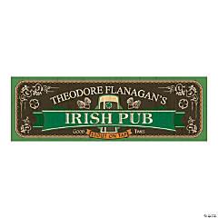 Personalized Small Irish Pub Vinyl Banner