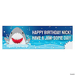 Personalized Small Jawsome Shark Party Vinyl Banner
