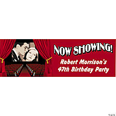 Personalized Small Movie Night Vinyl Banner